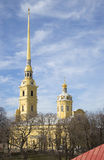 View of the Peter and Paul Cathedral. Saint-Petersburg, Russia Stock Photo