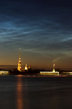 View of Peter and Paul cathedral, St.Petersburg, Russia in the w Royalty Free Stock Photography