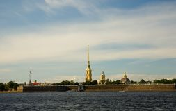 View of Peter and Paul Fortress Stock Photos