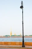 View of  Peter and Paul fortress across the river Neva Stock Images