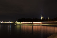 View on the Peter and Paul fortress royalty free stock photography