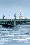 View of the Peter and Paul Fortress. Saint Petersburg Stock Images