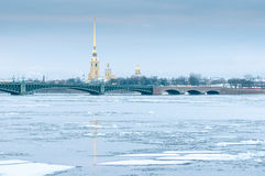 View of the Peter and Paul Fortress. Saint Petersburg Stock Photos