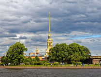 View of Peter and Paul Fortress, Saint-Petersburg, Russia. Stock Photos