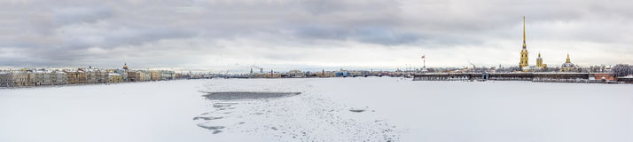 View on Peter and Paul Fortress in Saint-Petersburg, Russia Stock Photo