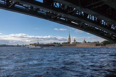 View of the Peter and Paul Fortress Royalty Free Stock Photos