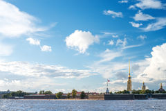 View of the Peter and Paul fortress in St.Petersburg Stock Photo