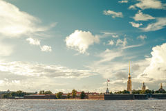 View of the Peter and Paul fortress in St.Petersburg Stock Image