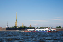 View of the Peter and Paul Fortress in St. Petersburg Stock Images