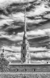 View of the Peter and Paul Fortress, St. Petersburg, Russia Royalty Free Stock Photography