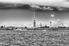 View of the Peter and Paul Fortress, St. Petersburg, Russia Royalty Free Stock Photos
