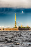 View of the Peter and Paul Fortress, St. Petersburg, Russia Stock Image