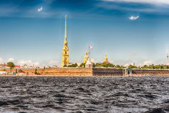 View of the Peter and Paul Fortress, St. Petersburg, Russia Stock Photo