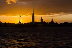 Peter and Paul Fortress in St. Petersburg. Royalty Free Stock Photo