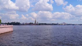 View of the Peter and Paul Fortress. St. Petersburg Russia stock video footage