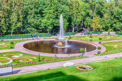 View of the Peterhof Palace and Gardens, Russia Royalty Free Stock Photography