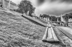 View of the Peterhof Palace and Gardens, Russia Royalty Free Stock Image
