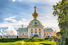 View of the Peterhof Palace and Gardens, Russia Stock Images