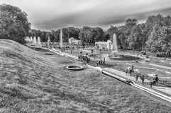 View of the Peterhof Palace and Gardens, Russia Royalty Free Stock Images