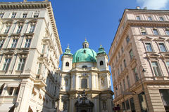 View on the Peterskirche in Vienna Stock Photography