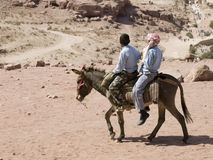 View of Petra from donkey Royalty Free Stock Photography