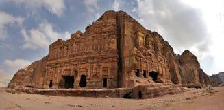 View of Petra, Jordan. royalty free stock photography