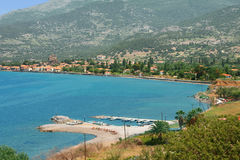 A view of Petra town on Lesvos. A view of town on Lesvos island in Greece royalty free stock photos