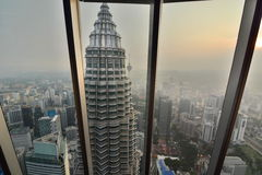 View from Petronas Twin Towers observation desk. Kuala Lumpur. Malaysia Royalty Free Stock Photography