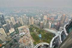 View from Petronas Twin Towers observation desk. Kuala Lumpur. Malaysia Stock Photos