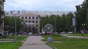 View on Petrozavodsk State University in summer day stock video