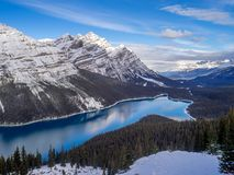 View of Peyto Lake in Banff National Park stock images