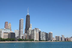 Chicago 8. View from PFC Milton Olive Park to catch Chicago downtown Skyline, The tallest building is John Hancock Tower Stock Image