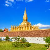View of the Pha That temple. Vientiane, Laos Royalty Free Stock Image