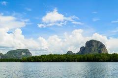 View of Phang nga bay. The peace in the fertility of natural resources at Pang-nga bay Royalty Free Stock Image