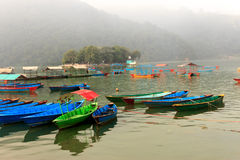 View of Phewa lake in Pokhara,Nepal Stock Photography