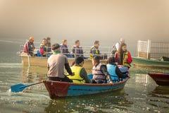 View of Phewa lake in Pokhara,Nepal Stock Photography