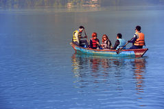 View of Phewa lake in Pokhara,Nepal Royalty Free Stock Photography