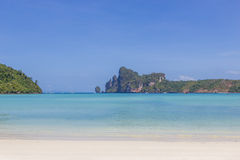 View on Phi Phi island beach Royalty Free Stock Images