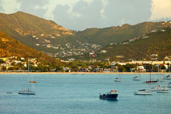 View of philipsburg, st martin Stock Photo