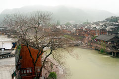 View of the Phoenix town ( Fenghuang ancient city ). Royalty Free Stock Image
