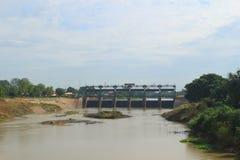 View for Phra Ram VI Dam Royalty Free Stock Image