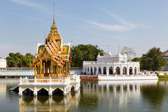 View of Phra Thinang Wehart Chamrun in Bang Pa-In Stock Image