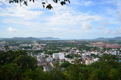 View from Phuket, Thailand. City Landscape Royalty Free Stock Image