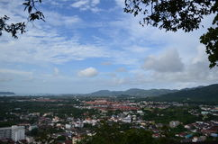 View from Phuket, Thailand. City Landscape Stock Photography