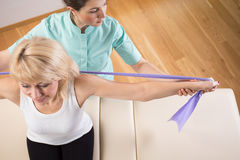 View of physiotherapist Stock Photography