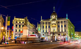 View of Piazza Cordusio in Milan, Italy Royalty Free Stock Photos