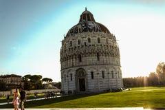 View of the Piazza dei Miracoli, Battistero San Giovanni Battista Royalty Free Stock Image