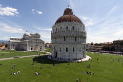 View of Piazza dei Miracoli Pisa Stock Photo