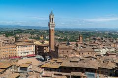 View of Piazza del Campo to Siena