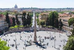View on Piazza del Popolo , Rome, Italy Stock Photos
